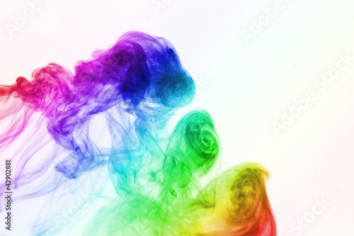 abstract colored smoke background - 42902881
