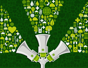 Go green social media marketing background
