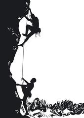 zwei extrem Bergsteiger