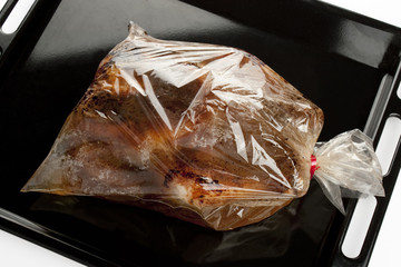 roast chicken into a oven bag
