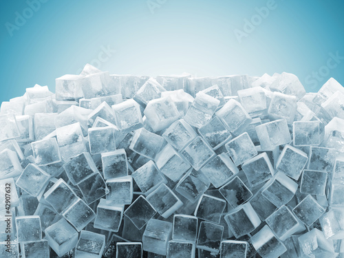 Fototapety, obrazy : Ice Cubes Abstract Background with place for your text