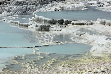 Tavertine pools and terraces at pamukkale