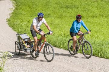 entspannte Radtour mit Kinderwagen