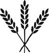 Leinwanddruck Bild - pictogramme blé