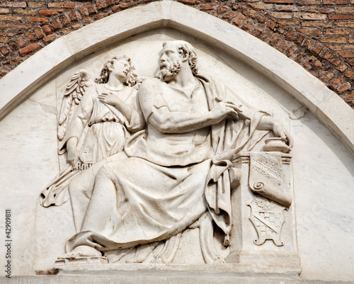 Rome - holy Matthew relief - Santa Maria Aracoeli church