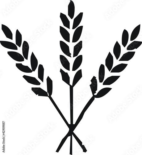 Leinwanddruck Bild pictogramme blé