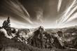 Yosemite - Half Dome, bw