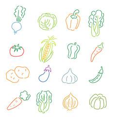 野菜の線画