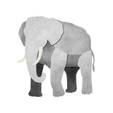 Papercut Elephant made from Recycled Paper poster