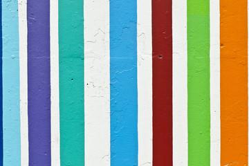 strisce colorate su muro