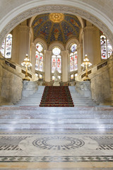 Main Hall of the Peace Palace at The Hague, Netherlands