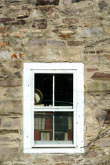 Old window with books