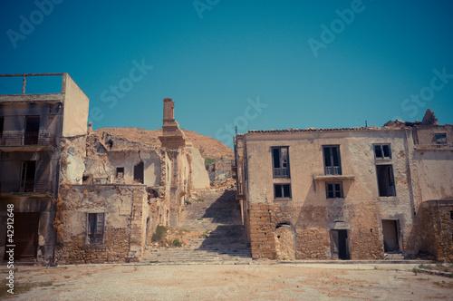 Leinwandbild Motiv Ruins of Poggioreale