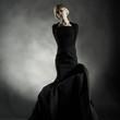 black dress posing