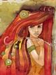 ilustracja dziewczyny