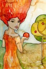 z jabłkiem