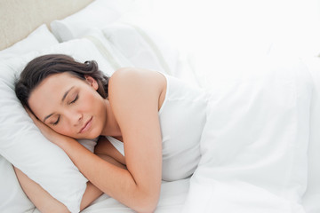 Attractive woman sleeping