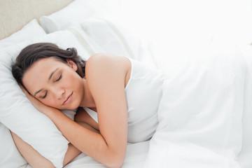 Attractive woman sleeping