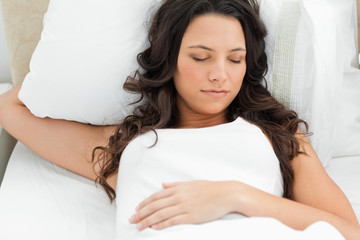 Charming woman sleeping