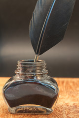 inkwell with a quill