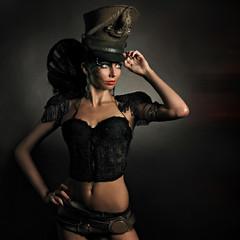 Beautiful steam punk lady