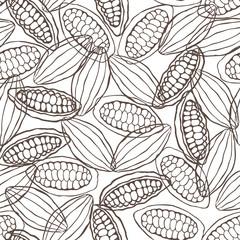 cacao pod seamless pattern