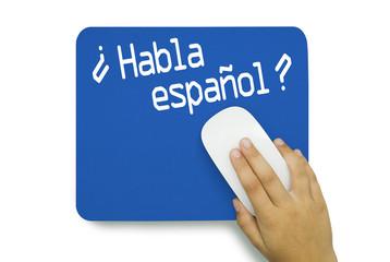¿ Habla español ? Mousepad. Hand