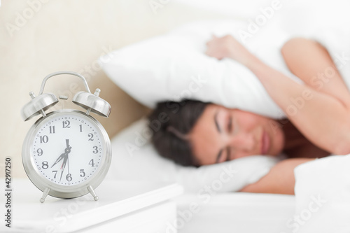 Rude awakening for a student with her alarm clock