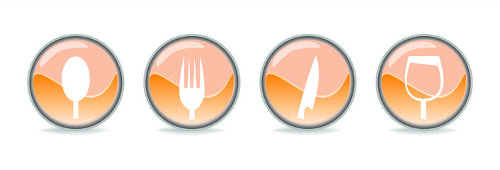 Simboli ristorante arancio