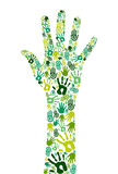 Go green collaborative hands poster