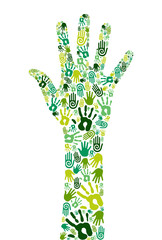 Go green collaborative hands