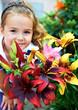 canvas print picture - Kind mit den Blumen