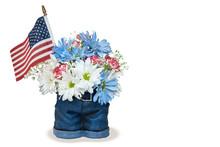 Patriotyczne bukiet