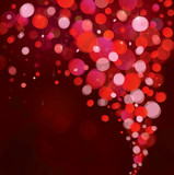 Vector of red lights background