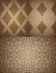Set of seamless Damask wallpapers