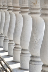 Thai style ancient  marble banister