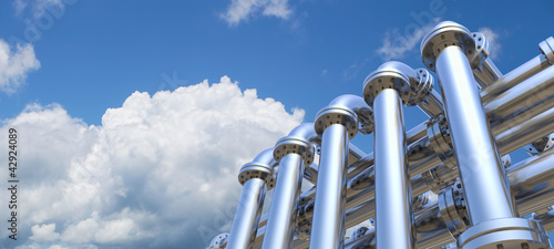 pipeline on a sky background - 42924089
