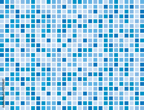 Abstract blue boxes background pattern