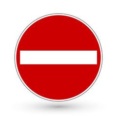 Verkehrszeichen - Verbot der Einfahrt