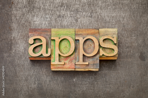 apps (applications) in wood type