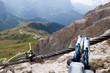 Leinwandbild Motiv Klettersteig - Sellagruppe - Dolomiten - Alpen