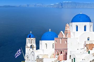 Traditional Greek island of Santorini. Village of Oia