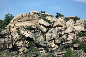 yatagan rock formation in turkey