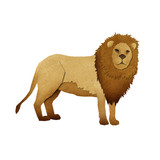 Papercut Lion Recycled Paper poster