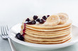 pancakes with blueberries and banana