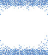 abstract blue mosaic pixel vector background illustration