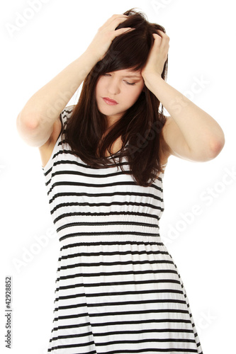 Worried young woman with problems