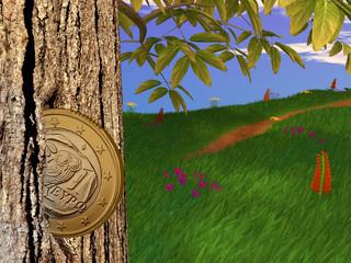 3D Euro Griechenland - Münze