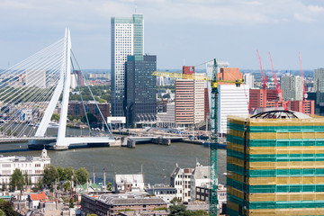 Aerial view of Rotterdam, the Netherlands