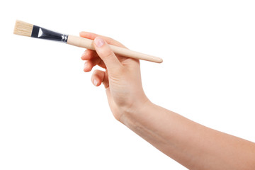 Paint Brush in a human hand